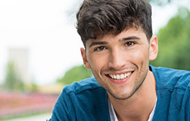 Young man with healthy attractive smile